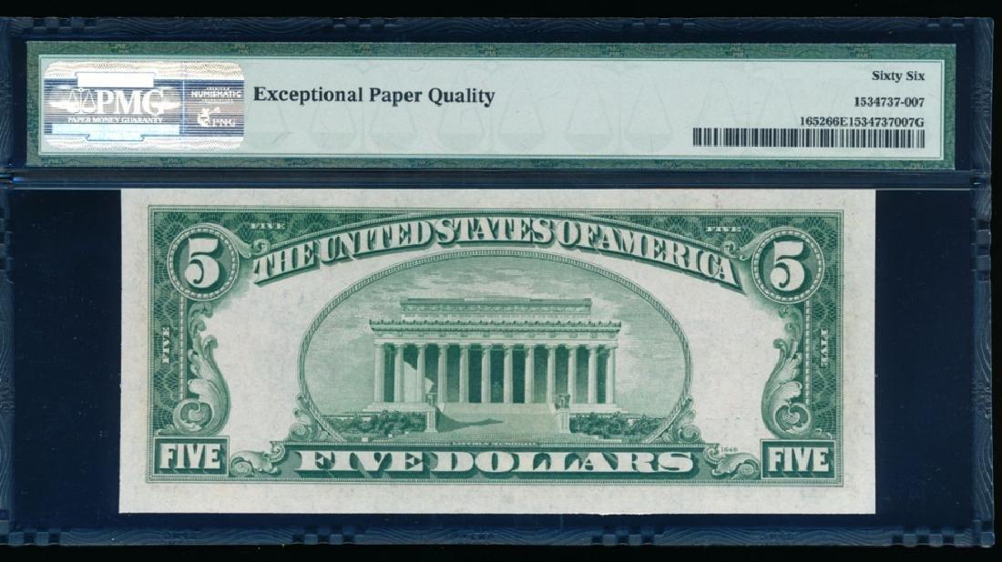 1934B $5 Silver Certificate PMG 66EPQ - 2