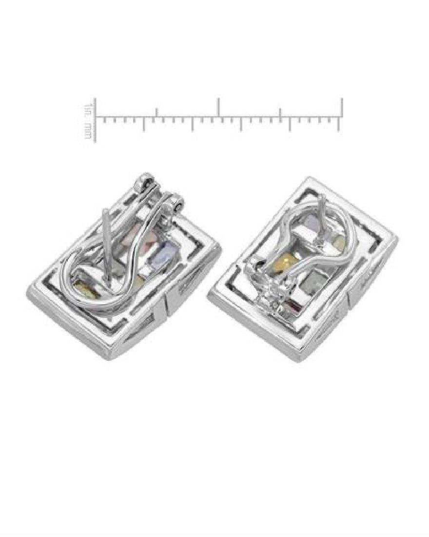 14KT White Gold 4.80ctw Multi Color Sapphire and - 2