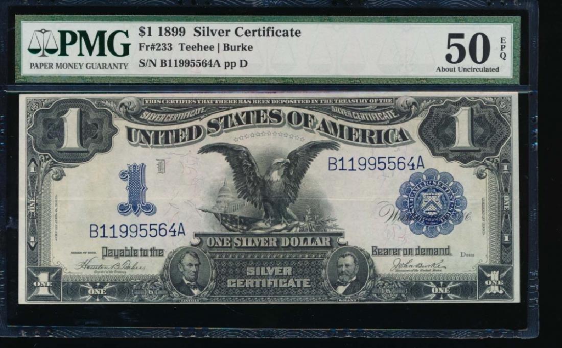 1899 $1 Black Eagle Silver Certificate PMG 50EPQ