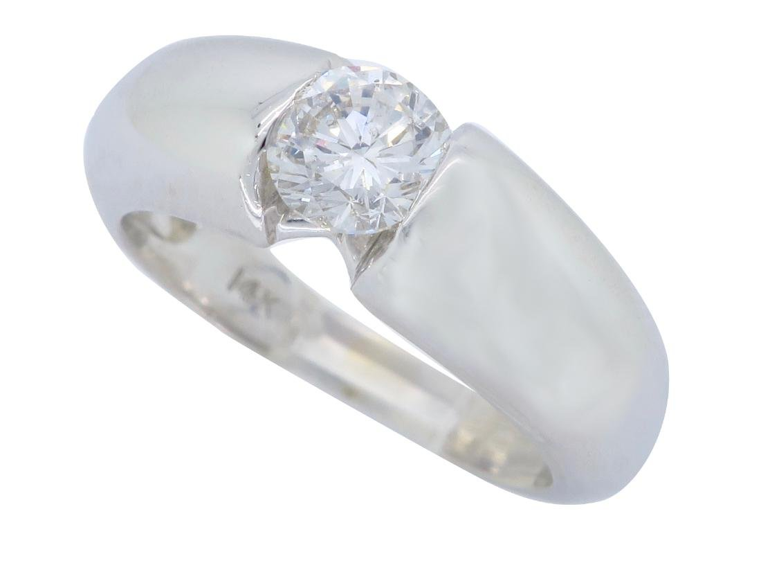 14KT White Gold 0.46ct Diamond Ring - 2
