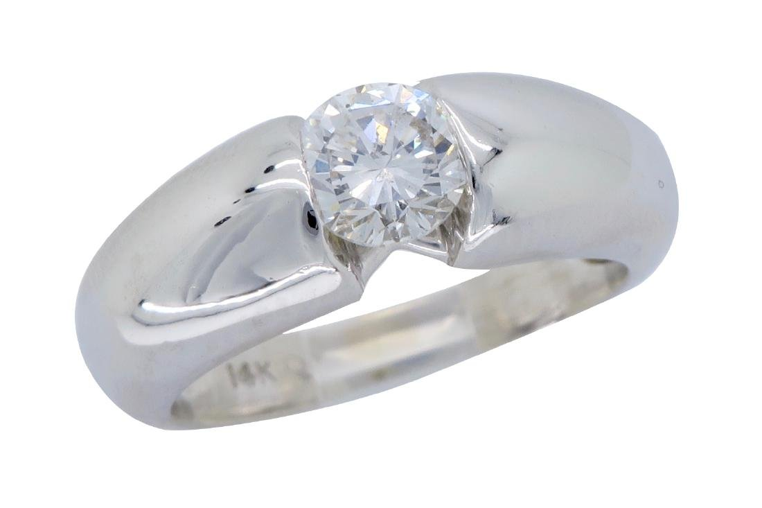 14KT White Gold 0.46ct Diamond Ring - 3