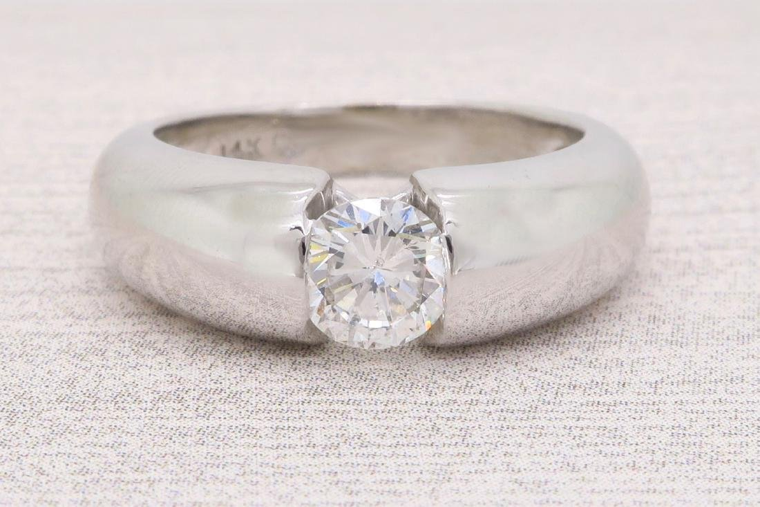 14KT White Gold 0.46ct Diamond Ring - 4