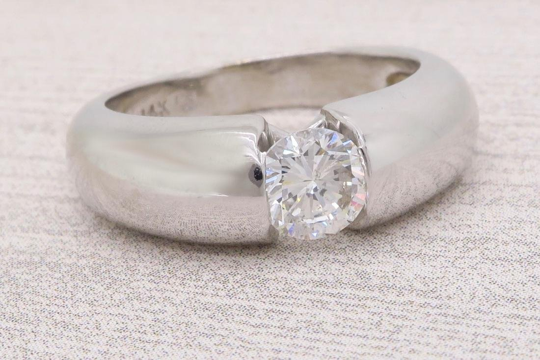 14KT White Gold 0.46ct Diamond Ring - 5
