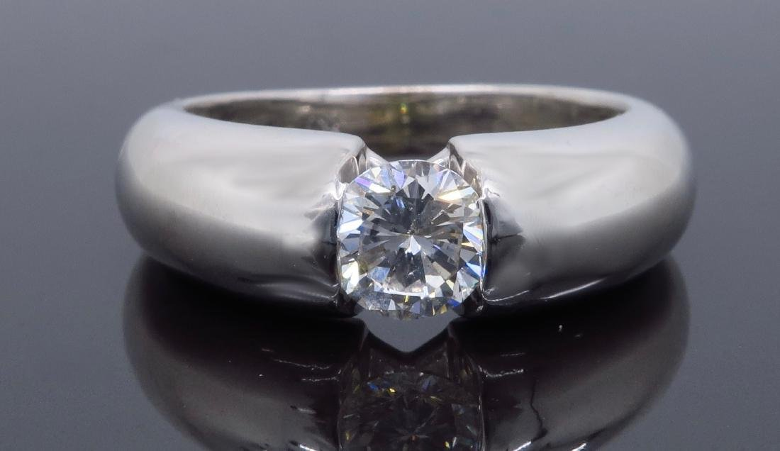 14KT White Gold 0.46ct Diamond Ring - 6