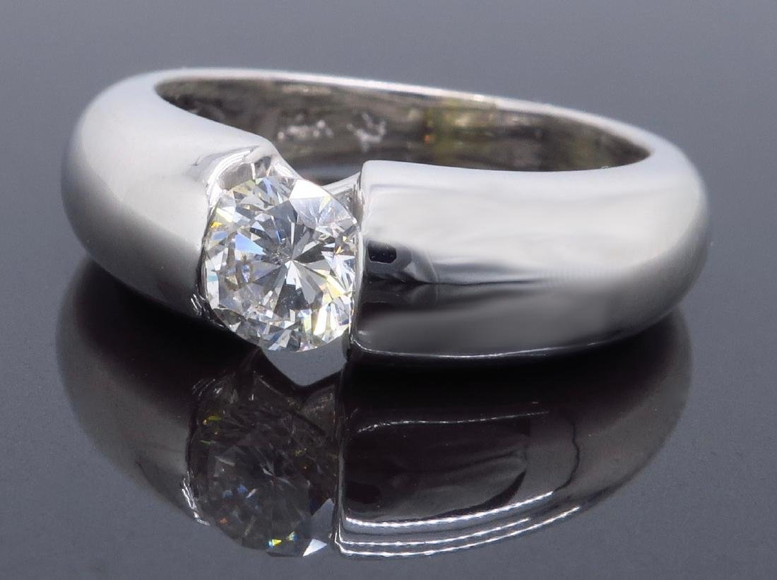14KT White Gold 0.46ct Diamond Ring - 7