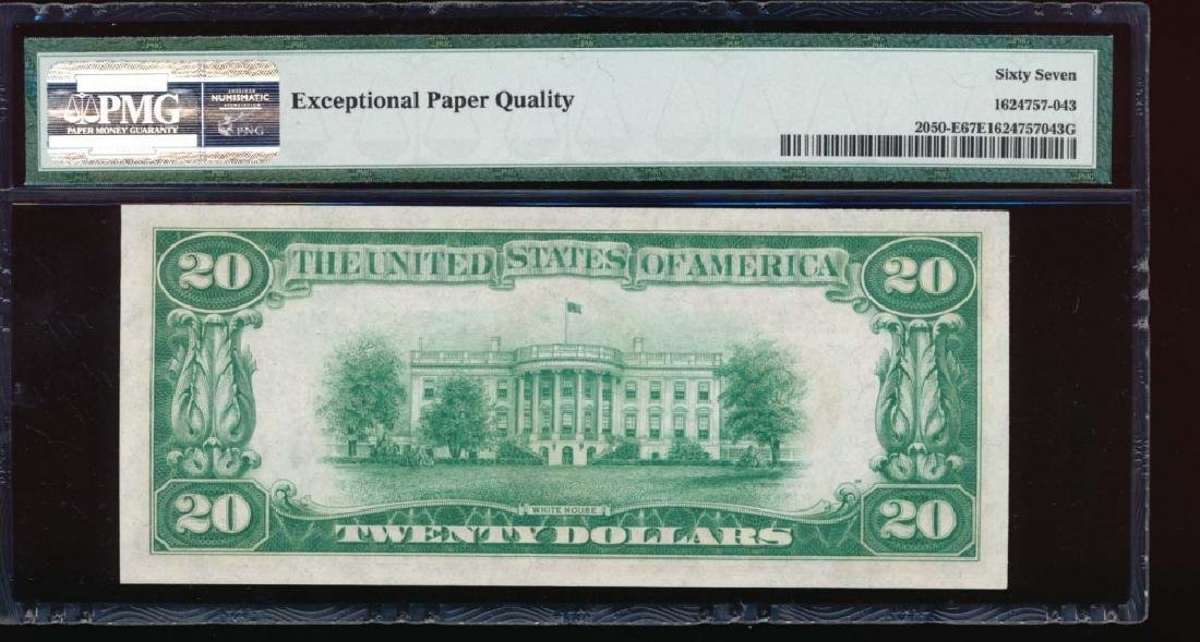 1928 $20 Richmond Federal Reserve Note PMG 67EPQ - 2