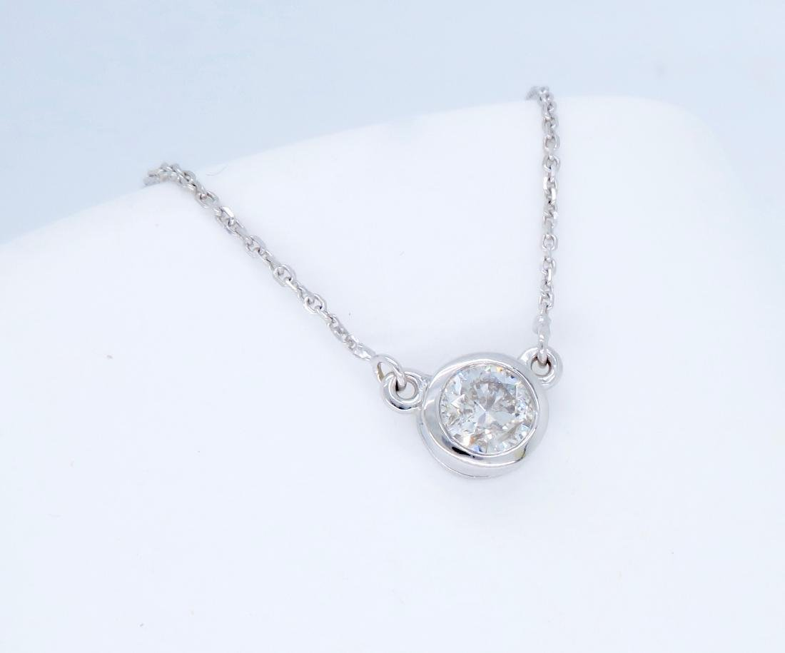14KT White Gold 0.50ct Diamond Pendant with Chain