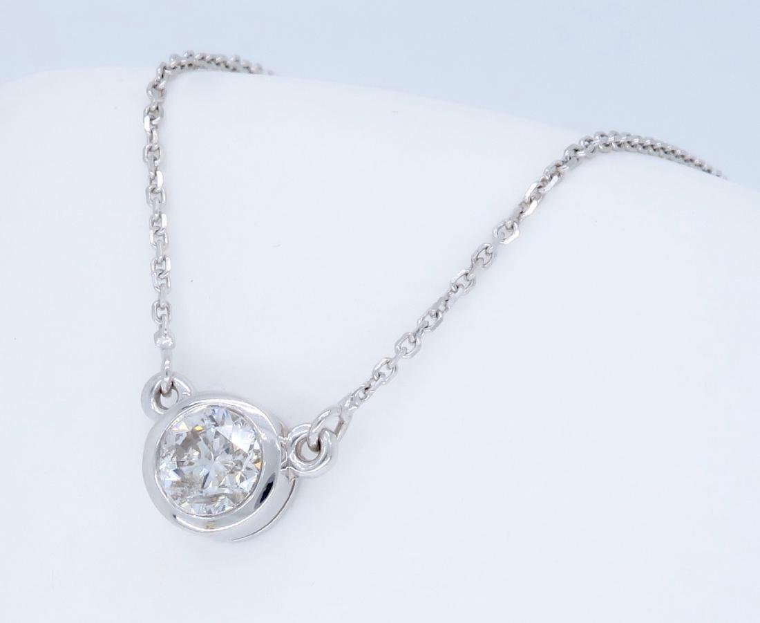 14KT White Gold 0.50ct Diamond Pendant with Chain - 2