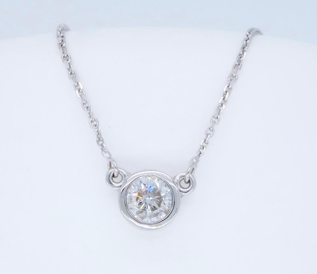 14KT White Gold 0.50ct Diamond Pendant with Chain - 3