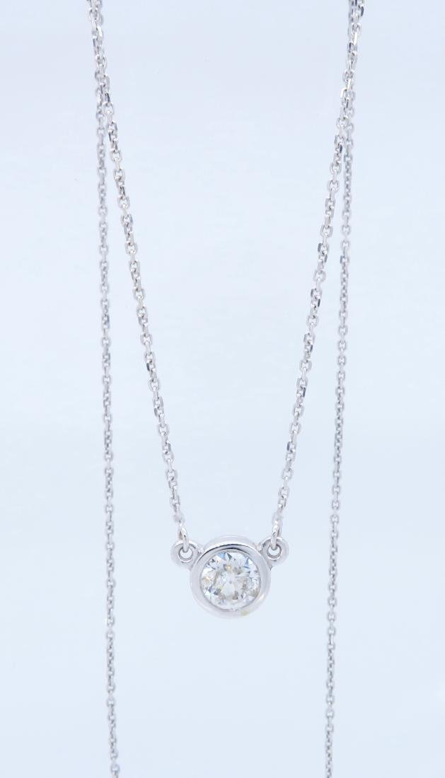14KT White Gold 0.50ct Diamond Pendant with Chain - 4
