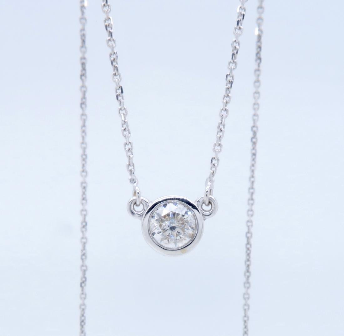 14KT White Gold 0.50ct Diamond Pendant with Chain - 5