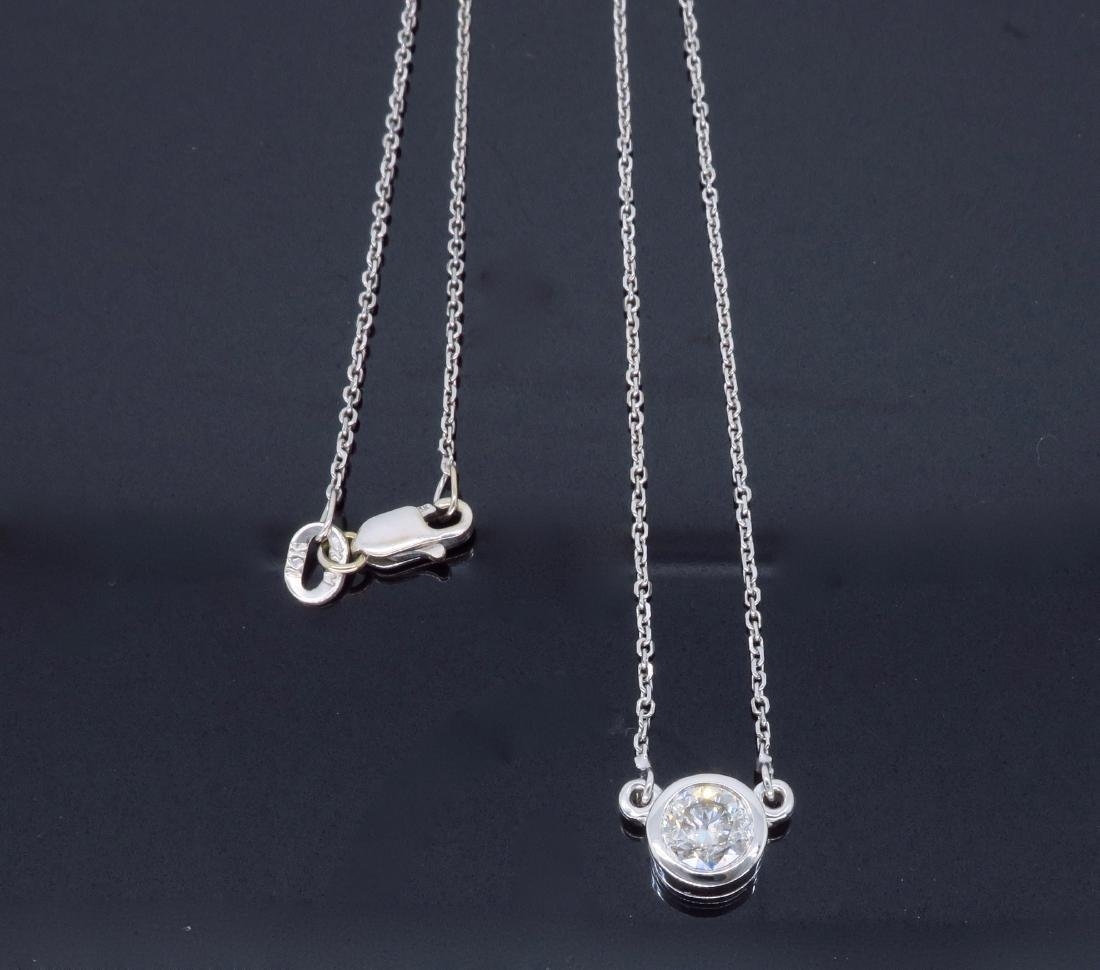 14KT White Gold 0.50ct Diamond Pendant with Chain - 6