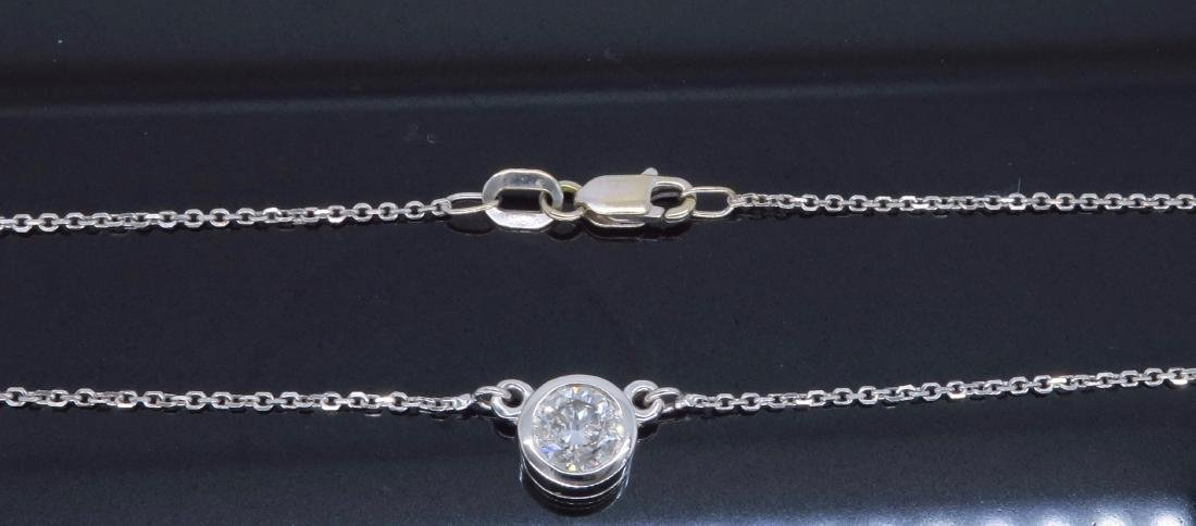 14KT White Gold 0.50ct Diamond Pendant with Chain - 7