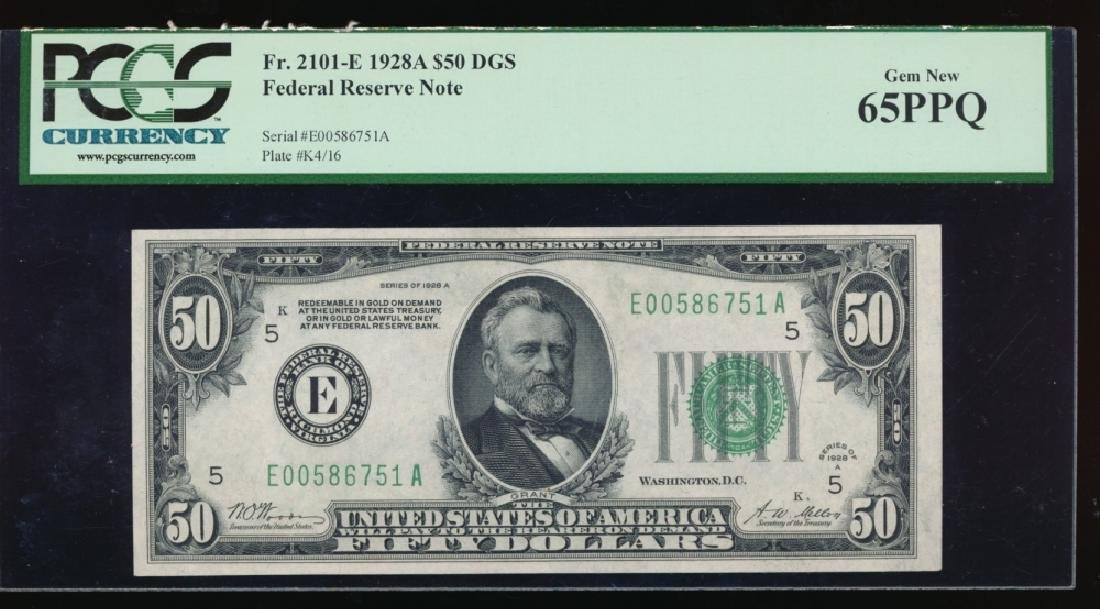 1928A $50 Richmond Federal Reserve Note PCGS 65PPQ