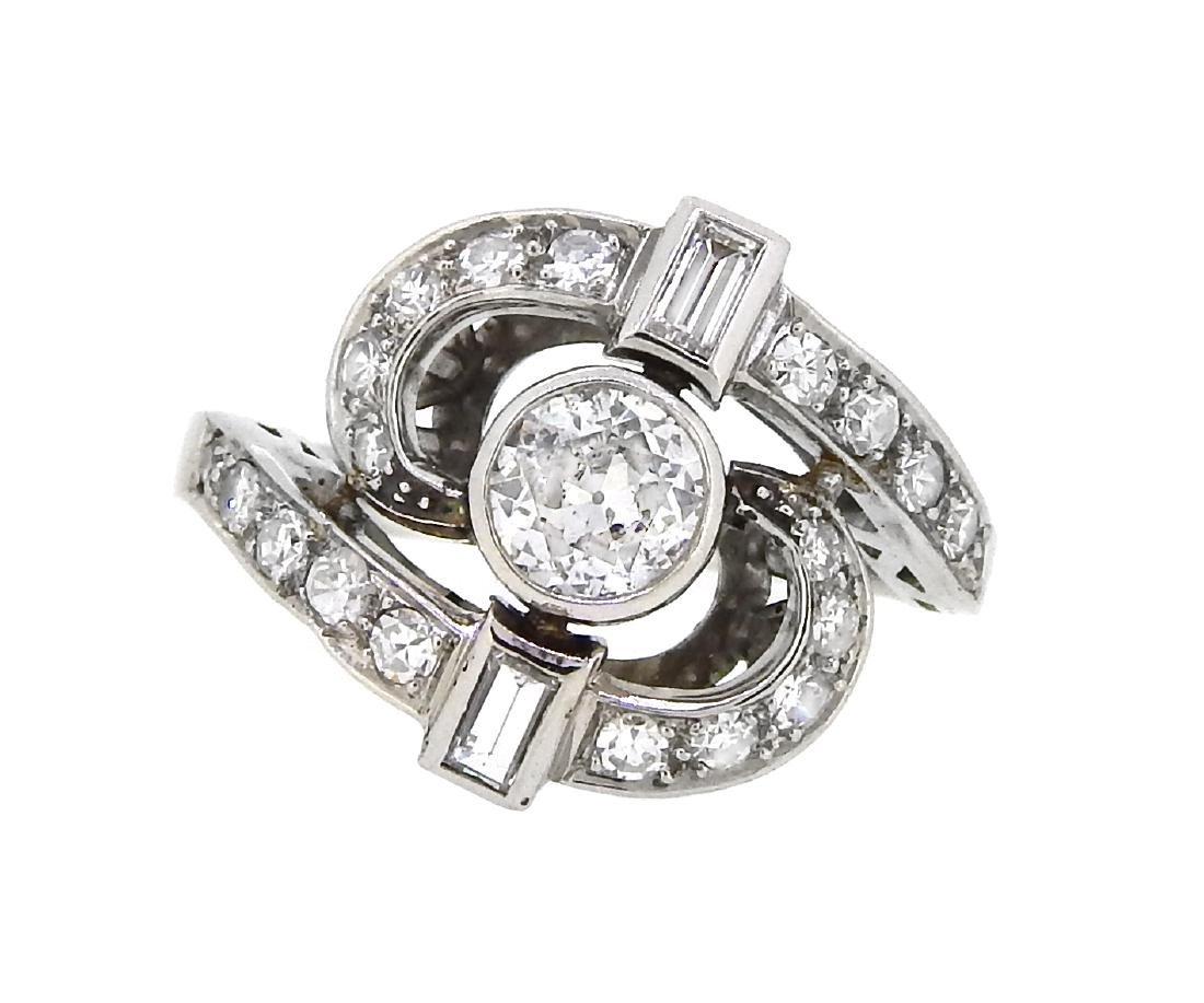 Platinum 1.51ctw Diamond Ring