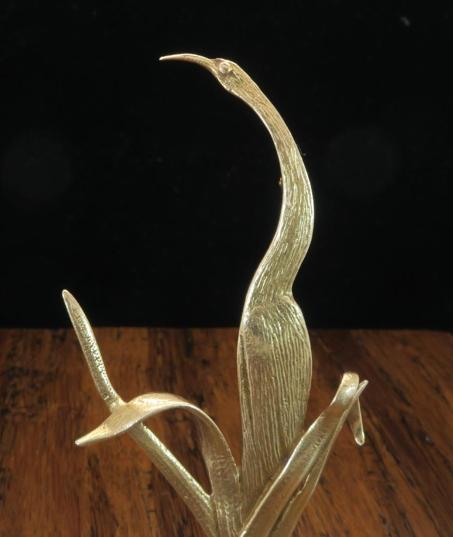 Tiffany and Co 14KT Yellow Gold Crane Bird Brooch