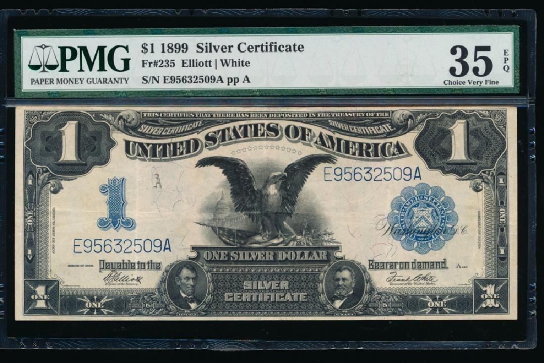 1899 $1 Black Eagle Silver Certificate PMG 35EPQ