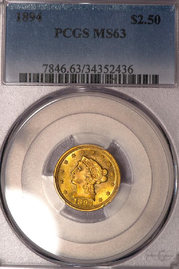 1894 $2 1/2 Liberty Head Quarter Eagle Gold Coin PCGS