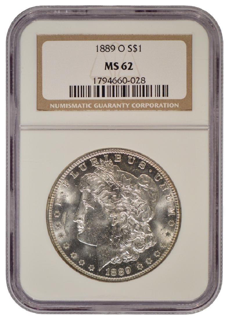1889-O $1 Morgan Silver Dollar Coin NGC MS62