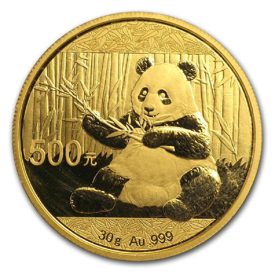 2017 China Panda 500 Yuan Gold Coin