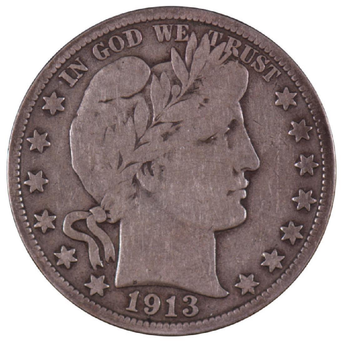 1913 Barber Half Dollar Coin