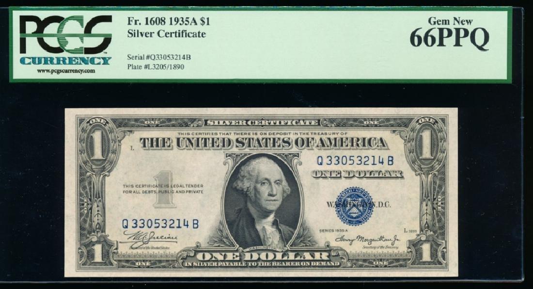 1935A $1 Silver Certificate PCGS 66PPQ