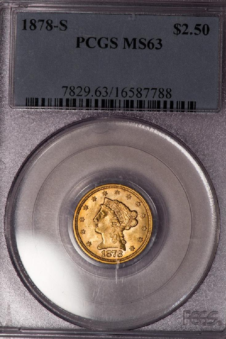 1878-S $2 1/2 Liberty Head Quarter Eagle Gold Coin PCGS