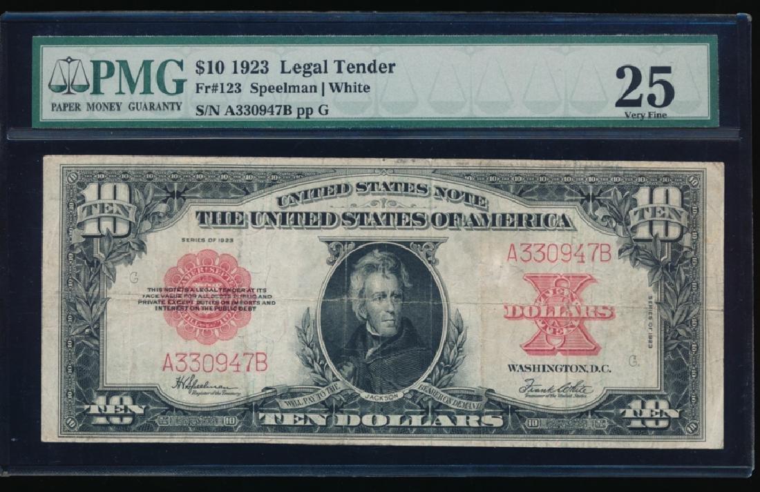 1923 $5 Legal Tender Poker Chip Note PMG 25