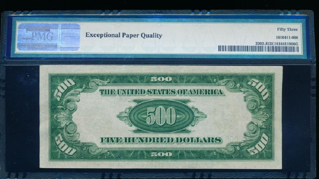 1934A $500 Kansas City Federal Reserve Note PMG 53EPQ - 2