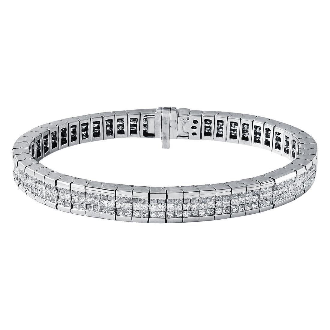 14KT White Gold 8.70ctw Diamond Bracelet
