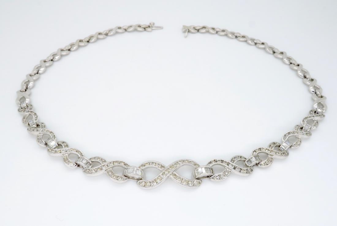 14KT White Gold 4.75ctw Diamond Necklace