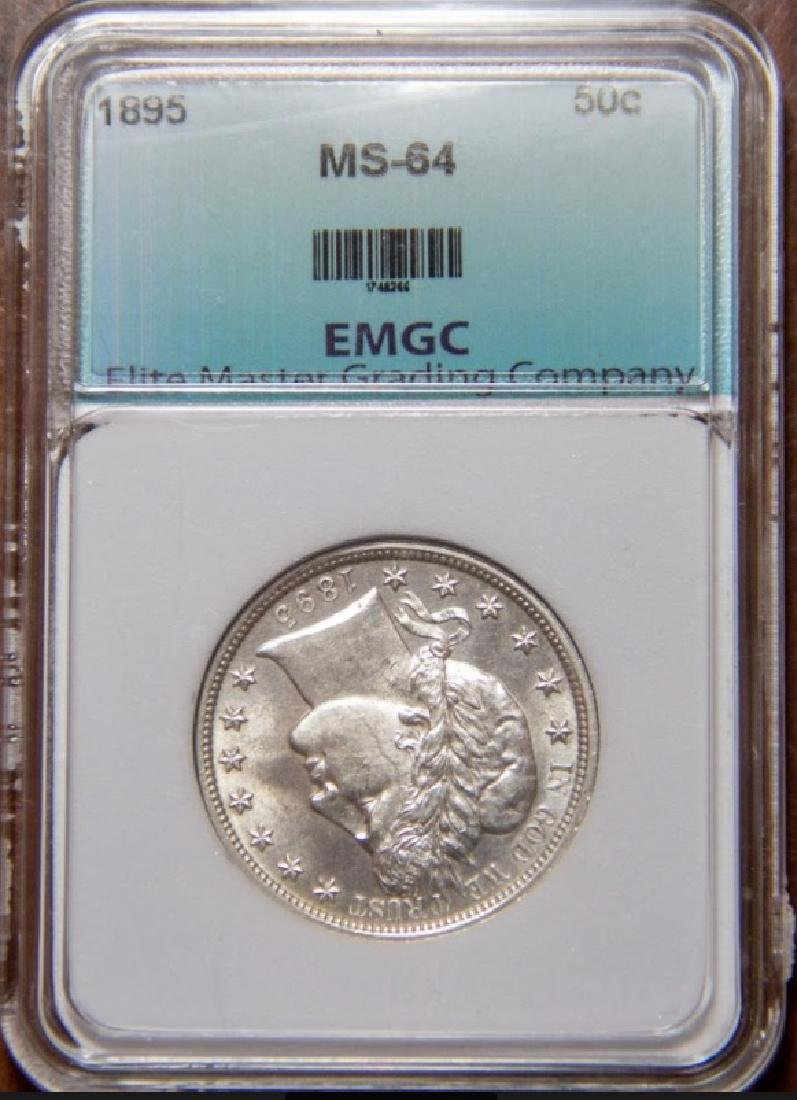 1895 Barber Half Dollar Coin MS65