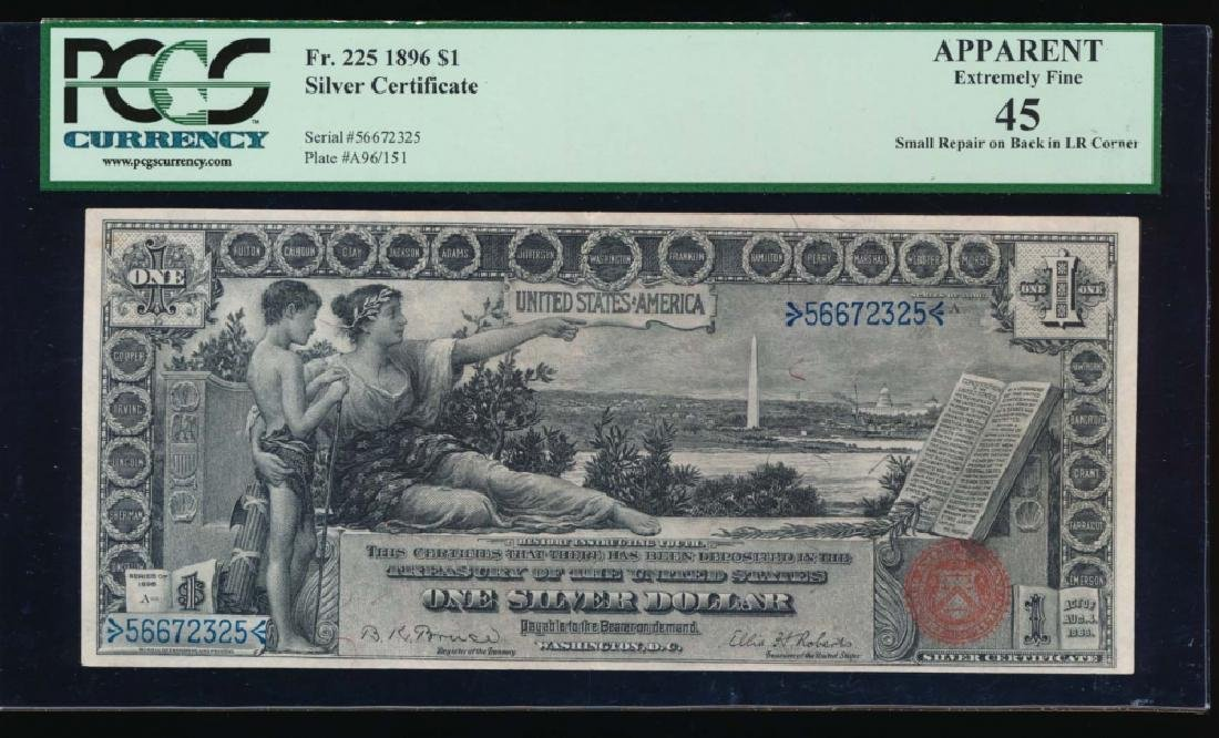 1896 $1 Silver Certificate PCGS 45