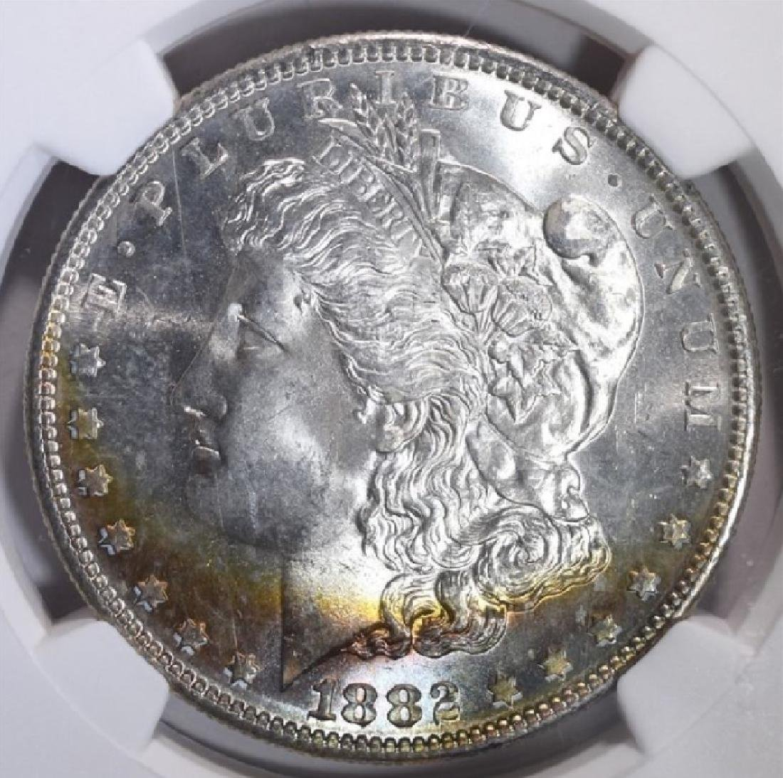 1882-S $1 Morgan Silver Dollar Coin NGC MS65 - 3