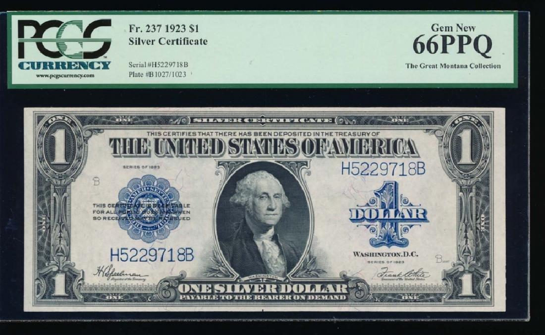 1923 $1 Silver Certificate PCGS 66PPQ