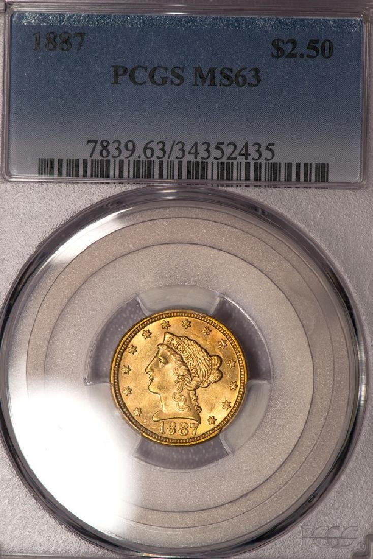 1887 $2 1/2 Liberty Head Quarter Eagle Gold Coin PCGS