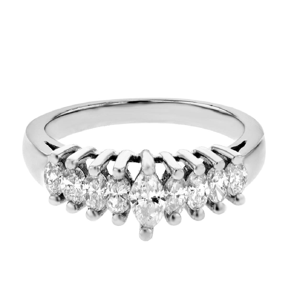 Platinum 0.79ctw Diamond Ring