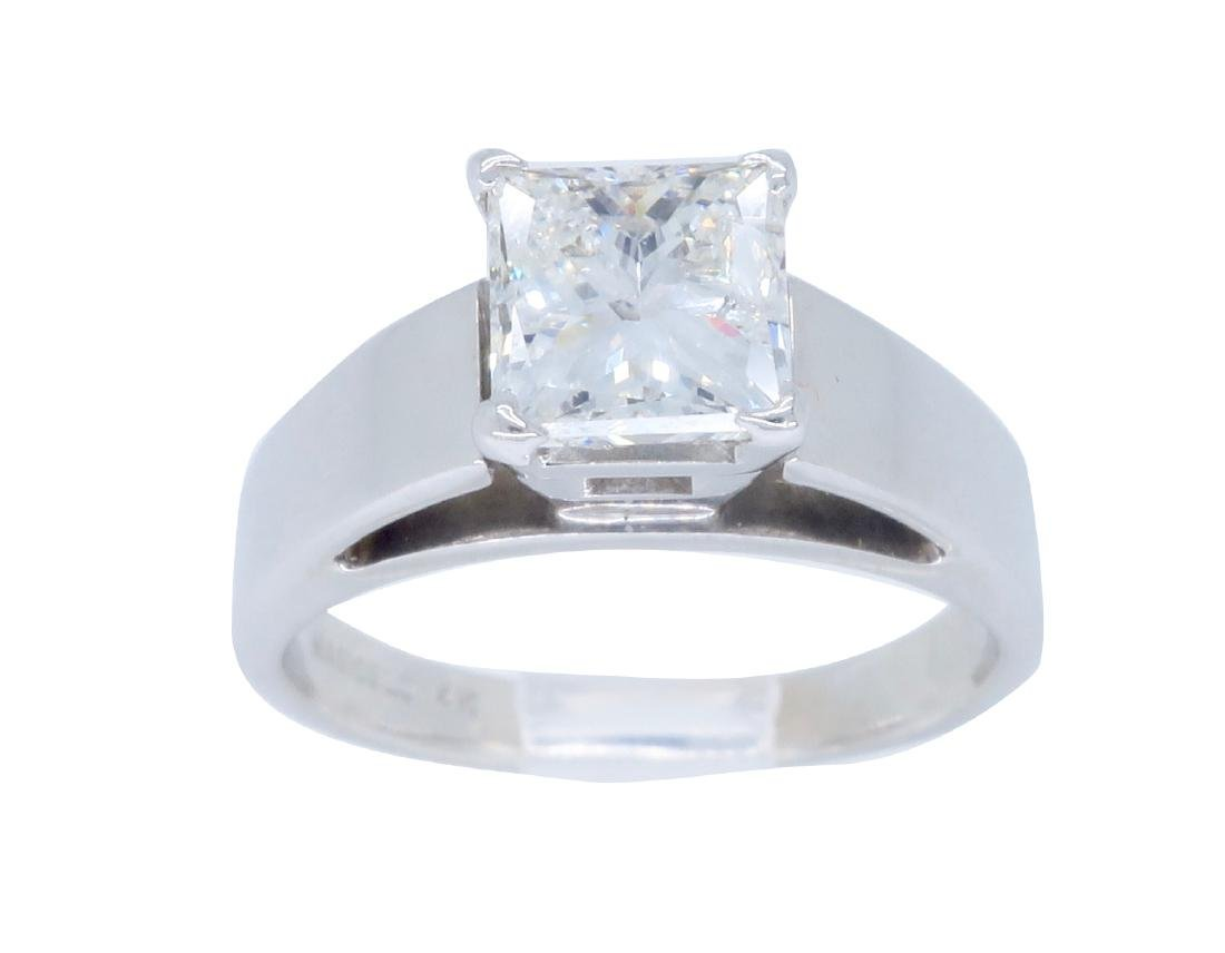 14KT White Gold 1.09ct Diamond Ring