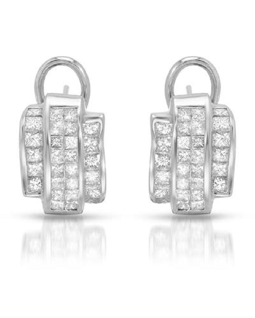 18KT White Gold 2.01ctw Diamond Earrings