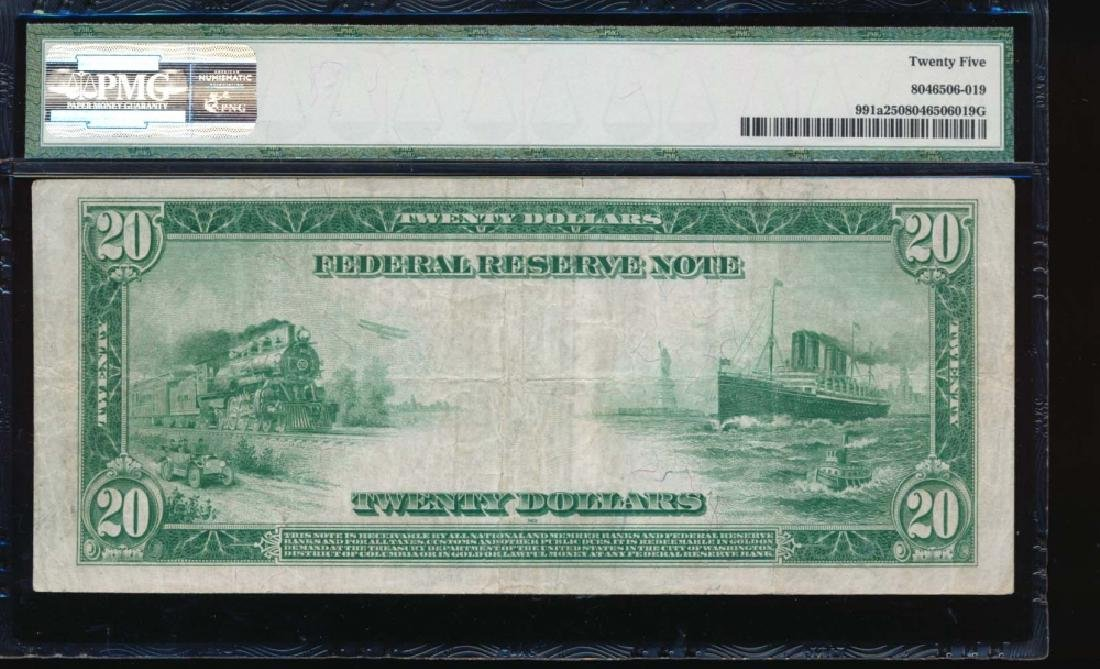 1914 $20 Chicago Federal Reserve Note PMG 25 - 2