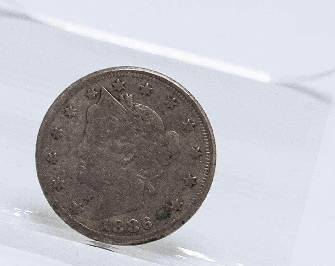 1886 Liberty Head V Nickel Coin