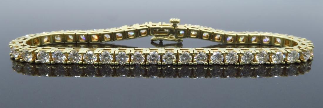 14KT Yellow Gold 6.00ctw Diamond Tennis Bracelet