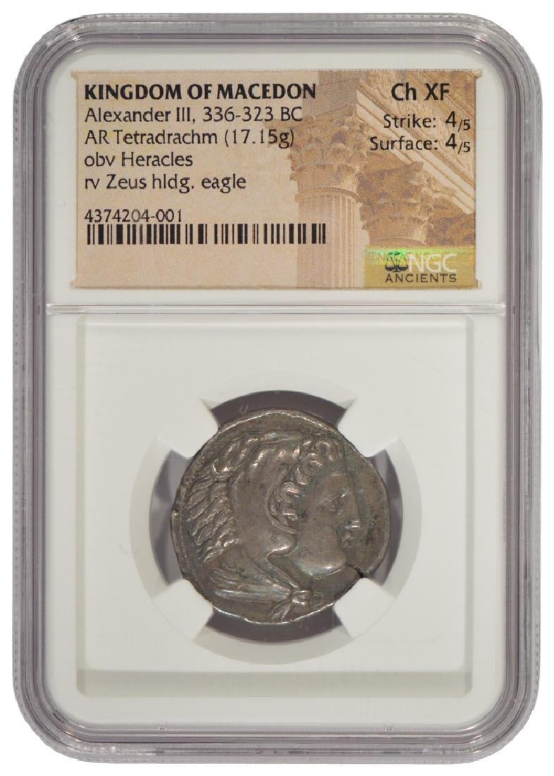 Kingdom of Macedon 336-323 BC Silver Coin NGC CH XF