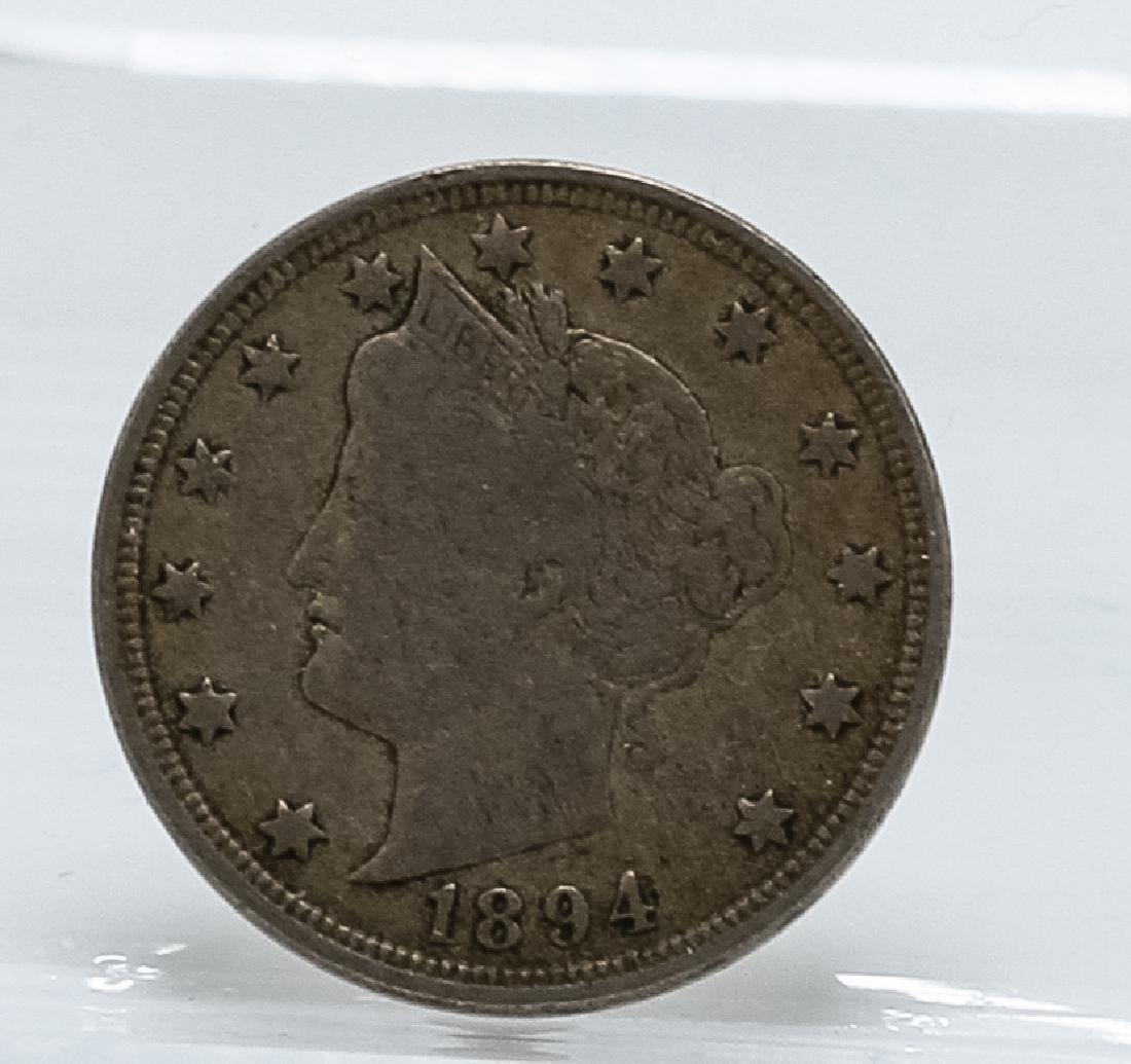 1894 Liberty Head V Nickel Coin