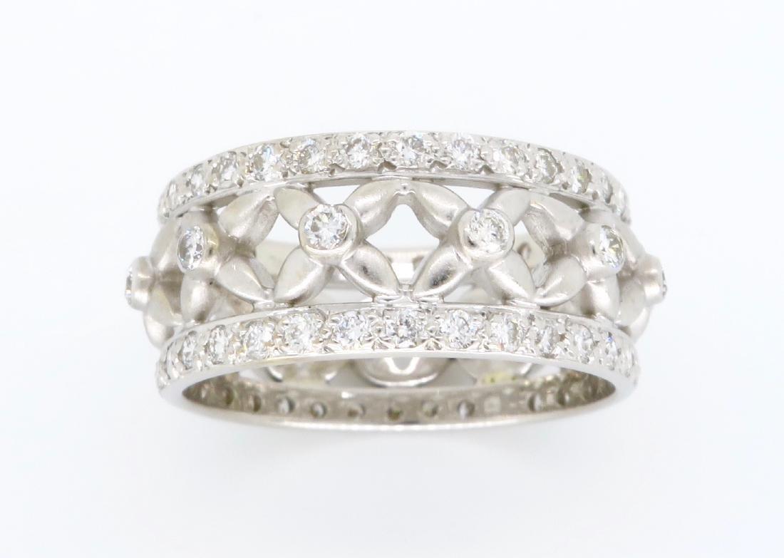 18KT White Gold 1.20ctw Diamond Ring