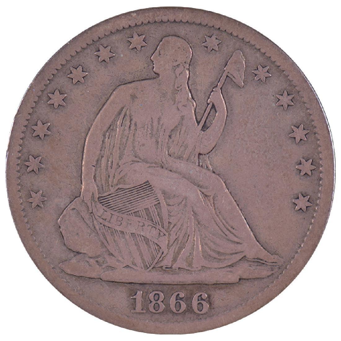 1866-S Seated Liberty Half Dollar Coin