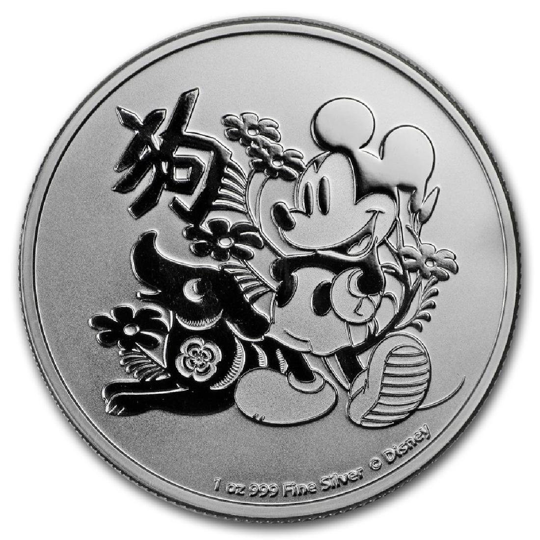 2018 $2 Disney Lunar Year of the Dog Niue Silver Coin