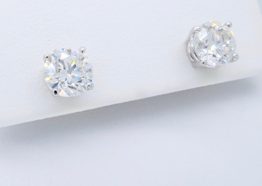 14KT White Gold 2.04ctw Diamond Stud Earrings