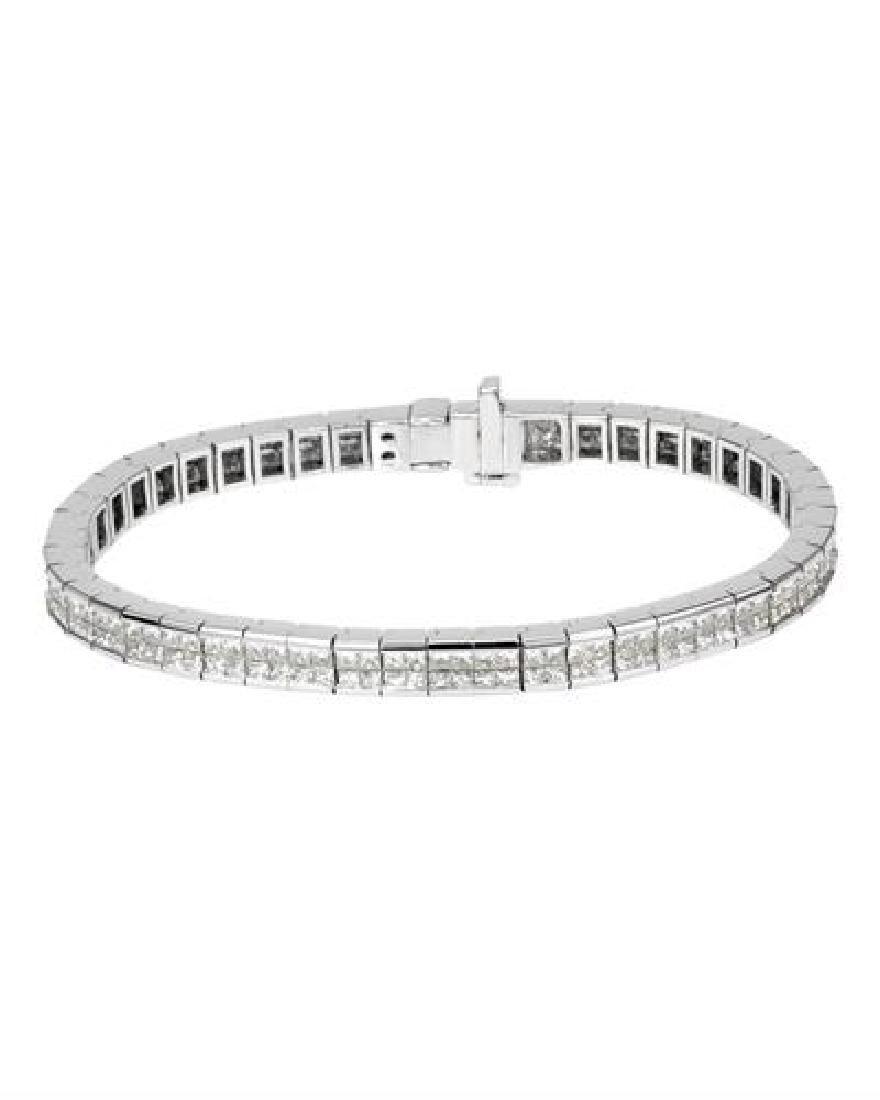 14KT White Gold 7.90ctw Diamond Bracelet