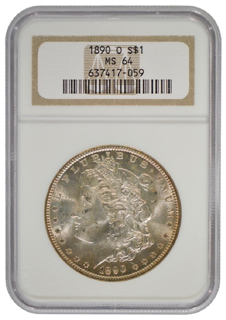 1890-O $1 Morgan Silver Dollar Coin NGC MS64